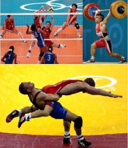 Volleyball, Weightlifting, and Wrestling