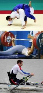 Judo, Powerlifting, Rowing