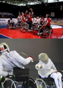 Wheelchair Basketball and Fencing